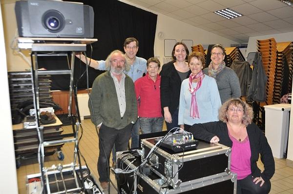L'équipe du cinéma rural à DROM