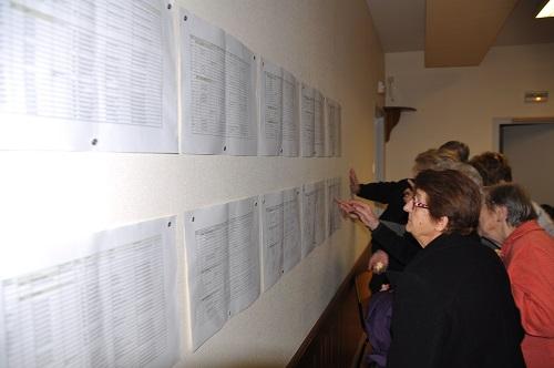 Les listes officielles des numéros de bâtiments