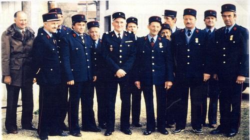 Remise de médailles en 1981