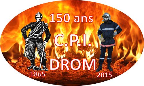 Logo 150 ans CPI DROM