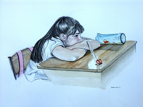 """""""Une classe très unique"""" : exposition d'aquarelles et dessins de Margaret Steel"""