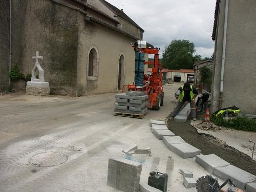 Au coeur du village commencent les travaux de la première tranche d'aménagement