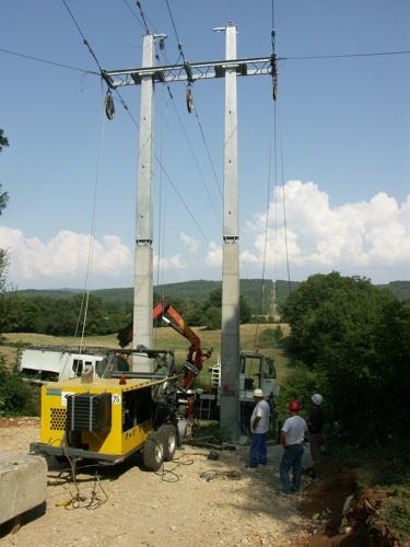 Travaux sur la ligne électrique 63 000 volts La Cluse/Bourg