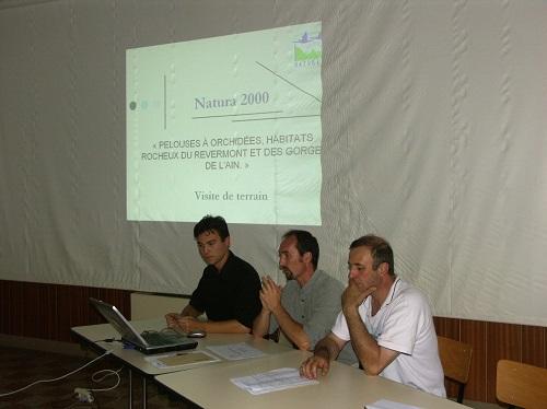 Réunion Natura 2000 à la salle . . .