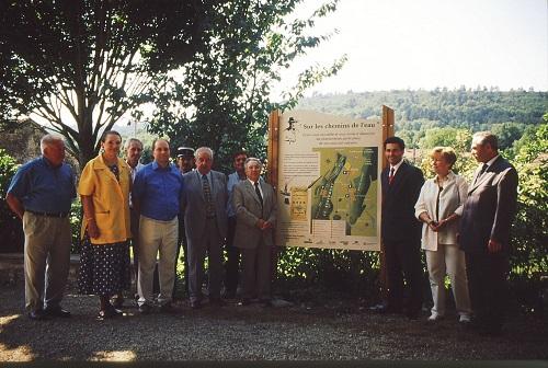 Inauguration du sentier karstique de la vallée de Drom, le 29 juin 2000