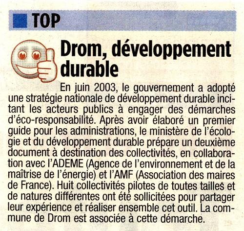 8 DROM 2007 Eco Responsabilité