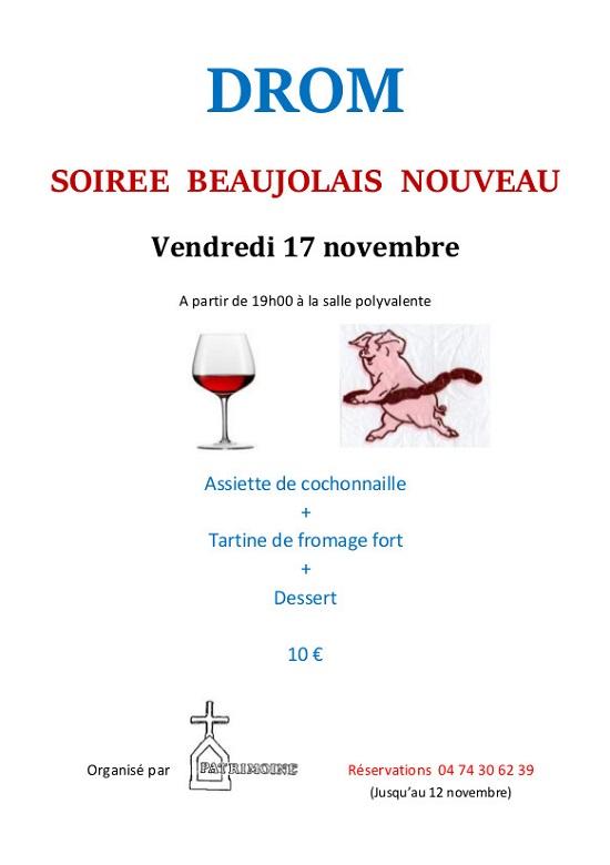 Soirée Beaujolais Nouveau Drom